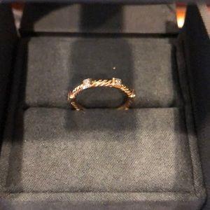 David Yurman Jewelry - David Yurman rose gold diamond band